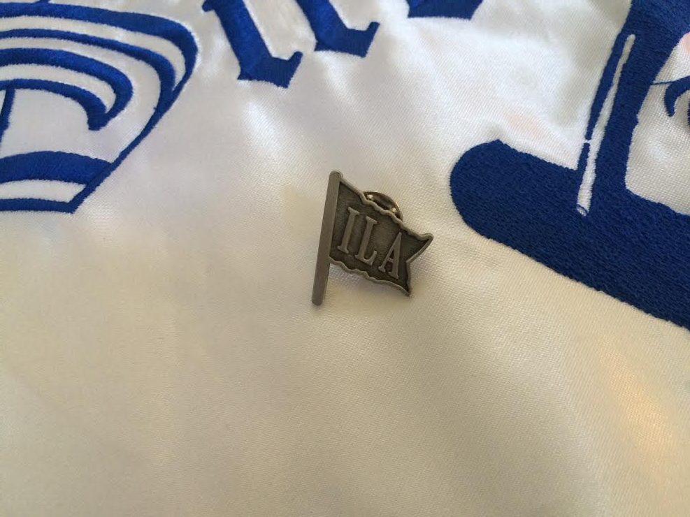 ILA Flag Pewter Pin